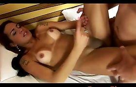 Creamed hot tgirl belly