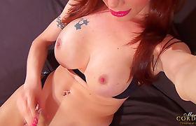 Big cock tranny Mariana Cordoba stroking her cock