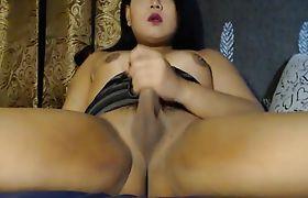 Horny Asian Tranny Webcam Masturbation