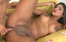 Huge tits tranny Jennifer Hills analyzed by hard man meat