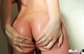 Gorgeous TS Bailey Jay posing in the shower