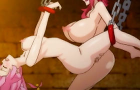 Big busty hentai shemale fucked and jerked